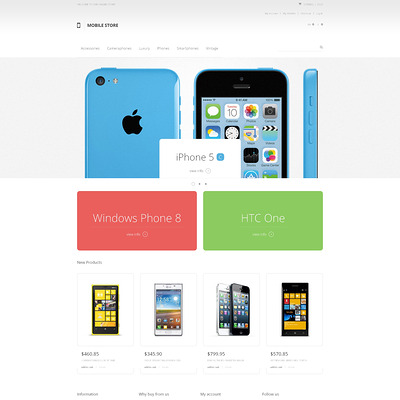Mobile Heaven Magento Theme (Magento theme for electronics stores) Item Picture