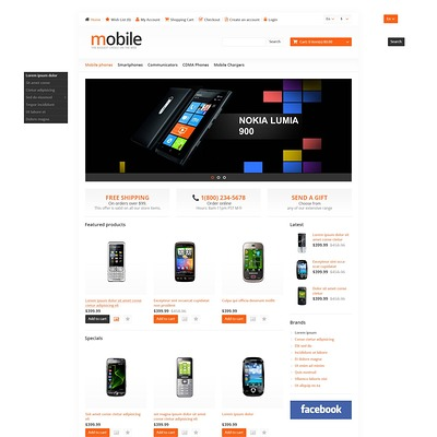 Mobile Store OpenCart Template (OpenCart theme for electronics) Item Picture