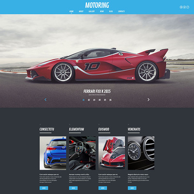 Motoring WordPress Theme (WordPress theme for car, vehicle, and automotive websites) Item Picture