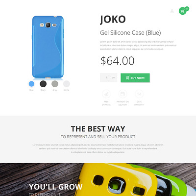 Mujjo Magento Theme (Magento theme for electronics stores) Item Picture