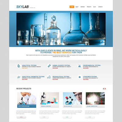Multi-Purpose Chem Lab WordPress Theme (science WordPress theme) Item Picture