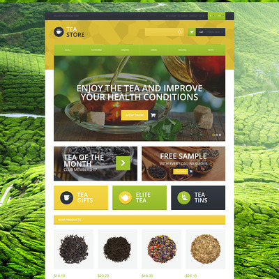 Naturally Grown Tea Magento Theme (Magento theme for coffee and tea stores) Item Picture