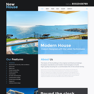 New House Joomla Template (Joomla theme for real estate) Item Picture