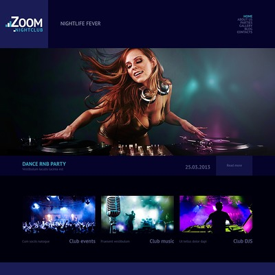 Night Club Responsive WordPress Theme (WordPress theme for night clubs) Item Picture