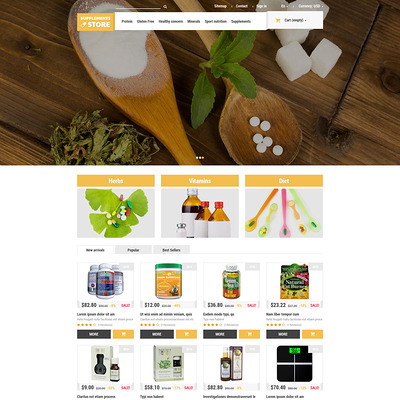 NutritionSupplements PrestaShop Theme (PrestaShop theme for health and medical stores) Item Picture