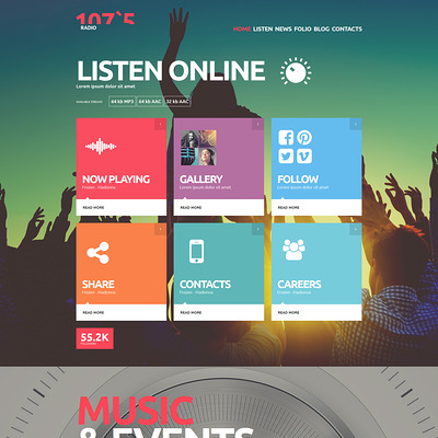 Online Radio Joomla Template (Joomla template for music websites) Item Picture