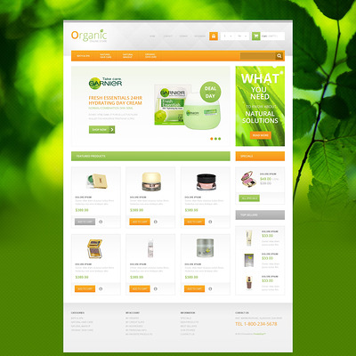 Organic Cosmetics Store PrestaShop Theme (PrestaShop theme for makeup, cosmetics, perfume, and beauty products) Item Picture