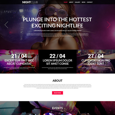 Party Animals Nightclub Joomla Template (Joomla template for night clubs) Item Picture