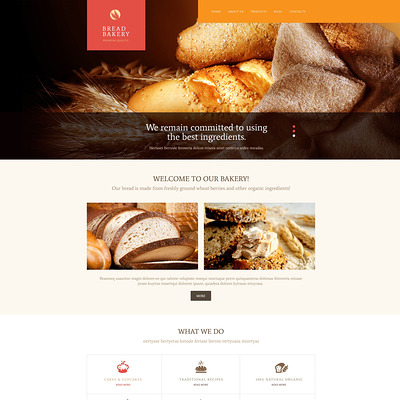 Pastries WordPress Theme (WordPress theme for restaurants) Item Picture
