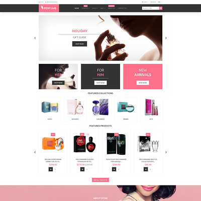 Perfumes Cosmetics Shopify Theme (Shopify theme for cosmetics and beauty products) Item Picture