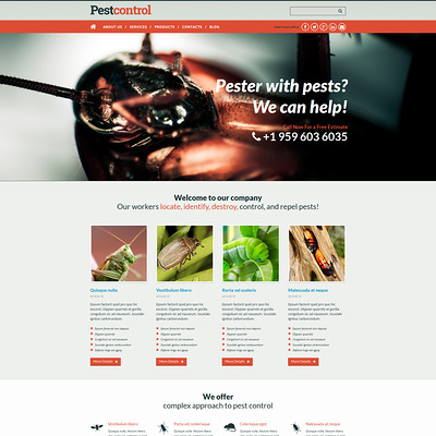 Pest Control Responsive Joomla Template (Joomla template for construction companies) Item Picture