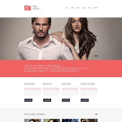 Photographer Portfolio Responsive WordPress Theme (WordPress theme for photogaphers) Item Picture