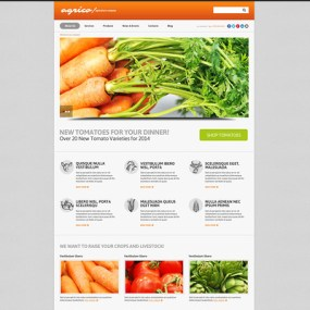 Planting Harvesting Board WordPress Theme (farming and agricultural WordPress theme) Item Picture
