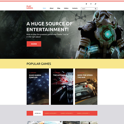 Play Games WordPress Theme (WordPress theme for game portal websites) Item Picture