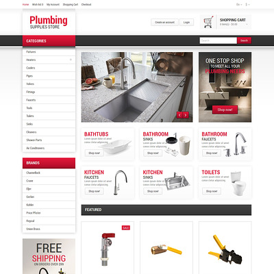 Plumbing Responsive OpenCart Template (OpenCart theme for home improvement and consttruction supply stores) Item Picture
