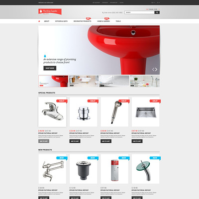 Plumbing Shop Magento Theme (Magento theme for home improvement and construction supply stores) Item Picture