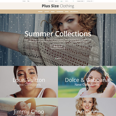 Plus Size Clothing PrestaShop Theme (PrestaShop theme for womens clothing) Item Picture