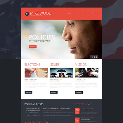 Politics Board WordPress Theme (WordPress theme for politics) Item Picture