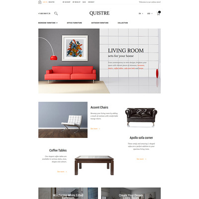 Quistre Magento Theme (Magento theme for furniture stores) Item Picture