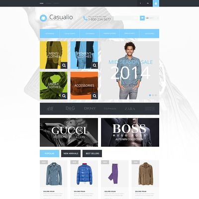 Refined Clothing PrestaShop Theme (PrestaShop theme for mens clothing) Item Picture