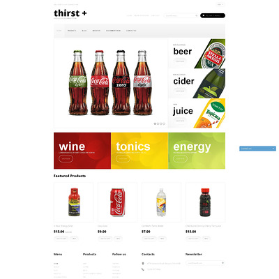 Refreshing Drinks Shopify Theme (Shopify theme for wine, coffee, juice, tea, and other drinks) Item Picture