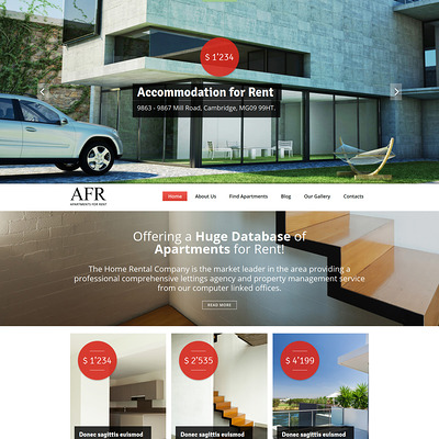 Renting Apartments Joomla Template (Joomla theme for real estate) Item Picture