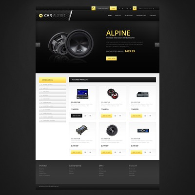 Responsive Car Audio Store OpenCart Template (OpenCart theme for automotive, car, and vehicle stores) Item Picture
