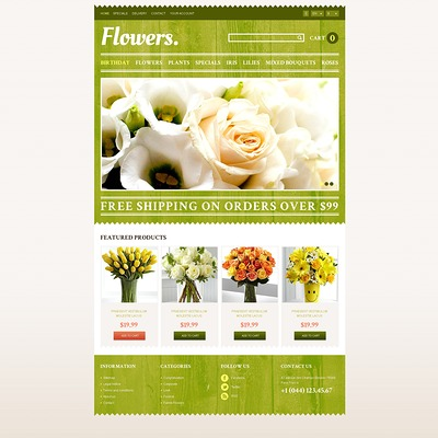 Responsive Flowers Store PrestaShop Theme (PrestaShop theme for florists and flower shops) Item Picture