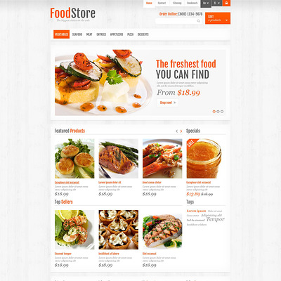 Responsive Food Store PrestaShop Theme (PrestaShop theme for food stores) Item Picture