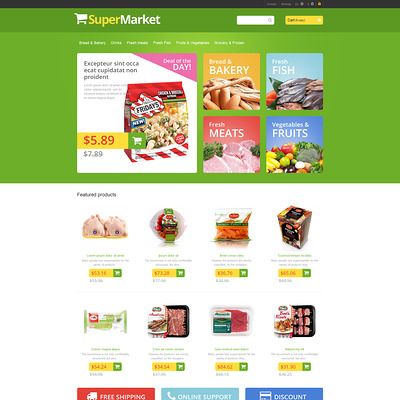 Responsive Supermarket PrestaShop Theme (PrestaShop theme for food stores) Item Picture