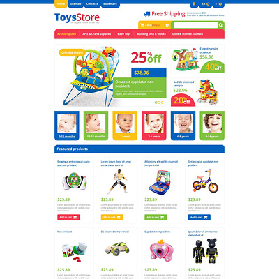 Responsive Toys Store PrestaShop Theme (PrestaShop theme for toy stores) Item Picture