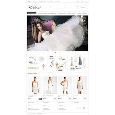 Responsive Wedding Store PrestaShop Theme (PrestaShop theme for wedding stores) Item Picture