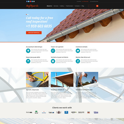 Roof Repair Services Joomla Template (Joomla template for construction companies) Item Picture