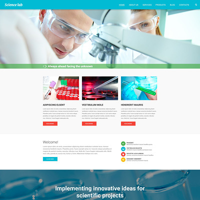 Scientific Experiment Drupal Template (Drupal theme for education) Item Picture