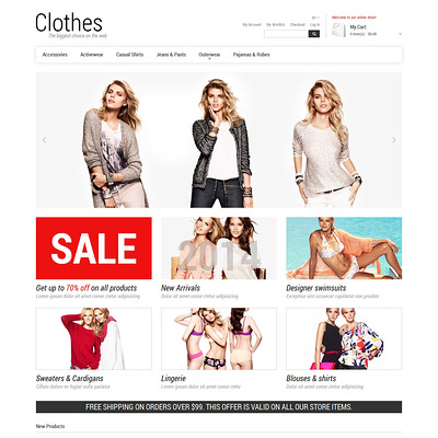 Smart Casual Magento Theme (Magento theme for mens and womens clothing) Item Picture