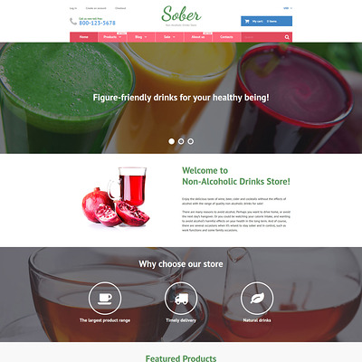 Sober Shopify Theme (Shopify theme for wine, coffee, juice, tea, and other drinks) Item Picture