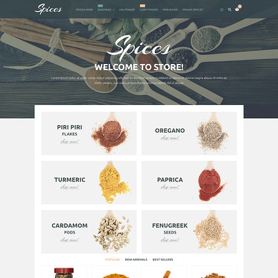 Spice Shop PrestaShop Theme (PrestaShop theme for food stores) Item Picture