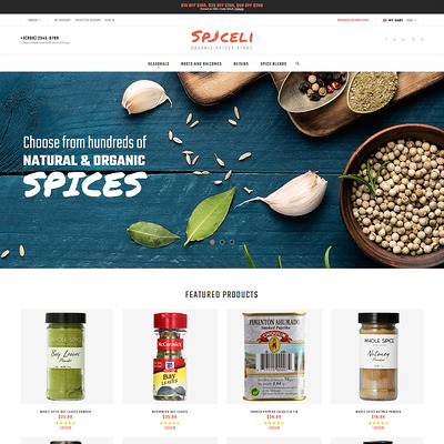 Spiceli Magento Theme (Magento theme for selling food and spices) Item Picture