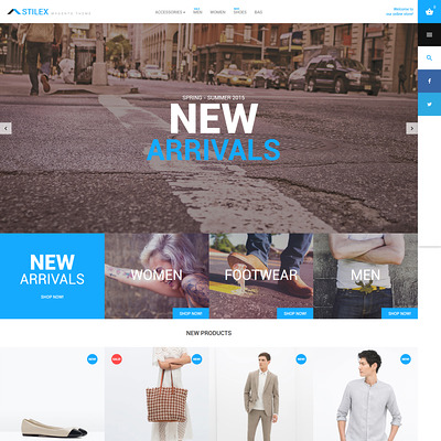 Stilex Magento Theme (Magento theme for mens and womens clothing) Item Picture