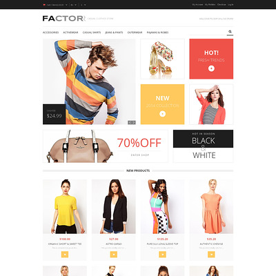 Style Factor Magento Theme (Magento theme for mens and womens clothing) Item Picture