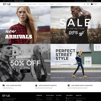 Style (Magento theme for mens and womens clothing) Item Picture