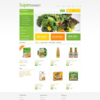 Supermarket PrestaShop Theme (PrestaShop theme for food stores) Item Picture