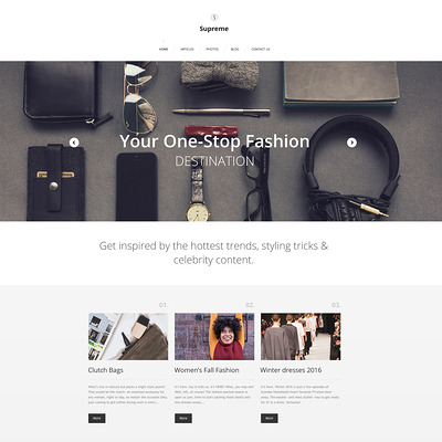 Supreme WordPress Theme (WordPress theme for fashion blogs) Item Picture