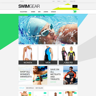 Swimwear Store PrestaShop Theme (PrestaShop theme for lingerie and swimwear) Item Picture