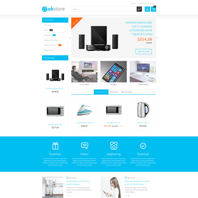 Tech Gear PrestaShop Theme (PrestaShop theme for electronics stores) Item Picture