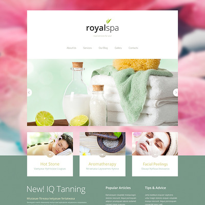 Tender Spa Salon Joomla Template (Joomla template for spas and beauty salons) Item Picture