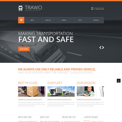 The Fastest Transportation Joomla Template (Joomla template for transportation) Item Picture