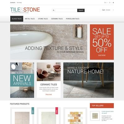 Tile Stone PrestaShop Theme (PrestaShop theme for wood and tile flooring stores) Item Picture