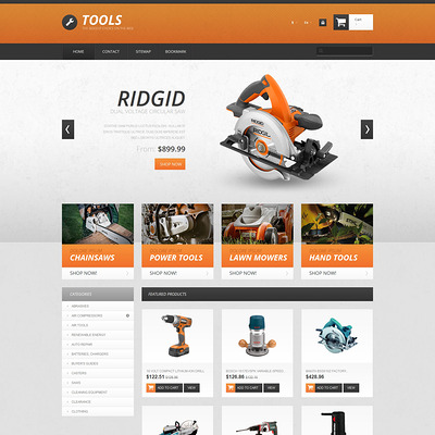 Tools PrestaShop Theme (PrestaShop theme for selling tools) Item Picture