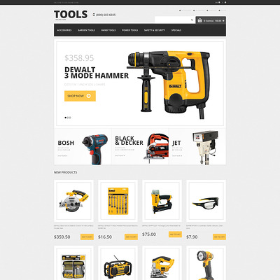 Tools & Equipment Responsive Magento Theme (Magento theme for tool stores) Item Picture